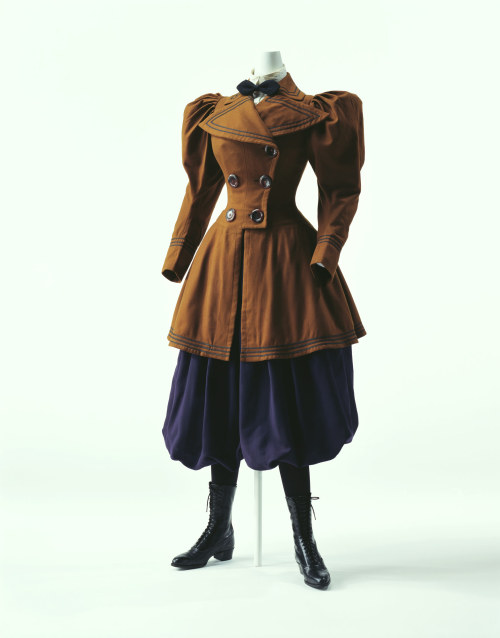 toughtink:  omgthatdress:  Cycling Ensemble 1895 The Kyoto Costume Institute    just gonna leave this link here….