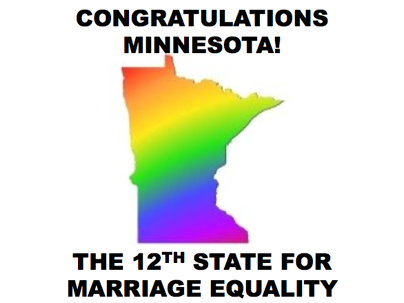 BREAKING: Minnesota's state legislature just approved same-sex marriage! Which state do you hope will be next?