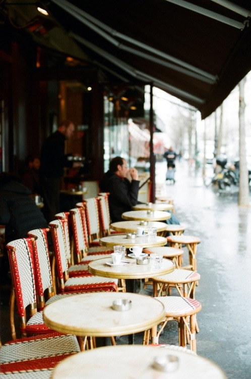 dustjacketattic:  cafe | paris | by white loft studio
