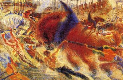 Umberto Boccioni - The City Rises, 1910.
