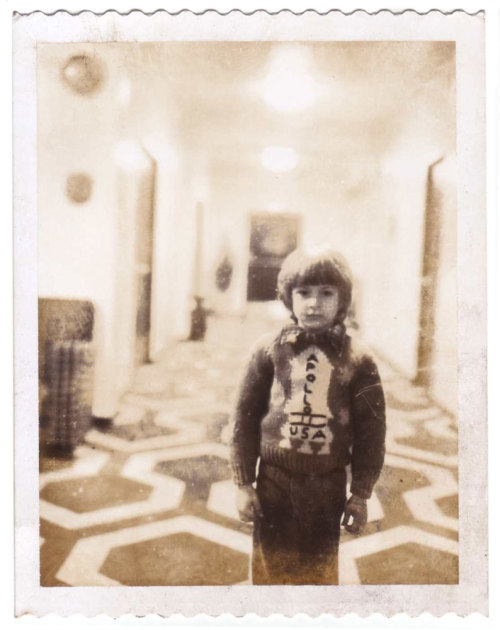 the-overlook-hotel:  Continuity Polaroid of actor Danny Lloyd on the Guest Room Hallway set of The Shining. (photo courtesy Filippo Ulivieri, who has written an Italian biography of Kubrick's longtime personal assistant Emilio D'Alessandro)
