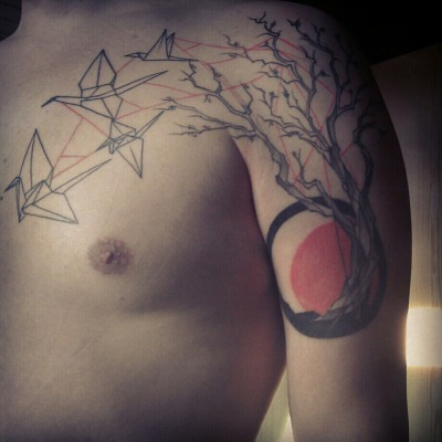 fuckyeahtattoos:  Done in OUR FUTURE TATTOO http://ourfuturetattoo.cz/ in Brno - Czech Republic. Tattoo artist: Marie Kraus (https://www.facebook.com/mariekraus3)