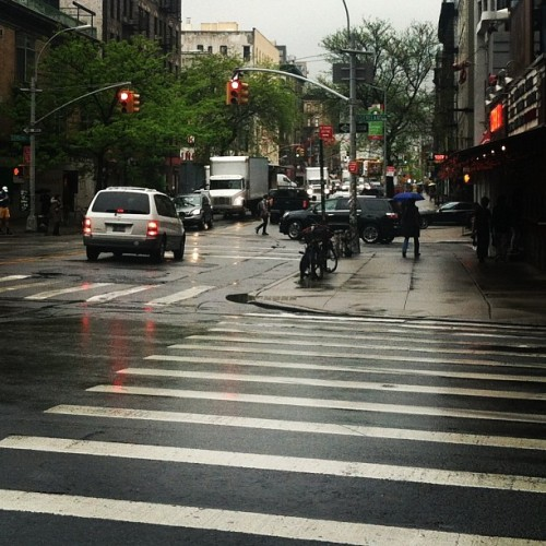 Rain-soaked Soho from earlier today. #nyc #rain #soho #streets