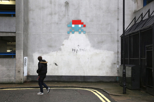Art Fag by SReed99342 on Flickr.Dope shot of a Space Invader in London by SReed
