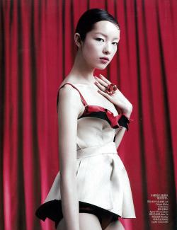 'Graceful boudoir'  Fashion story for Vogue China April by Willy Vanderperre