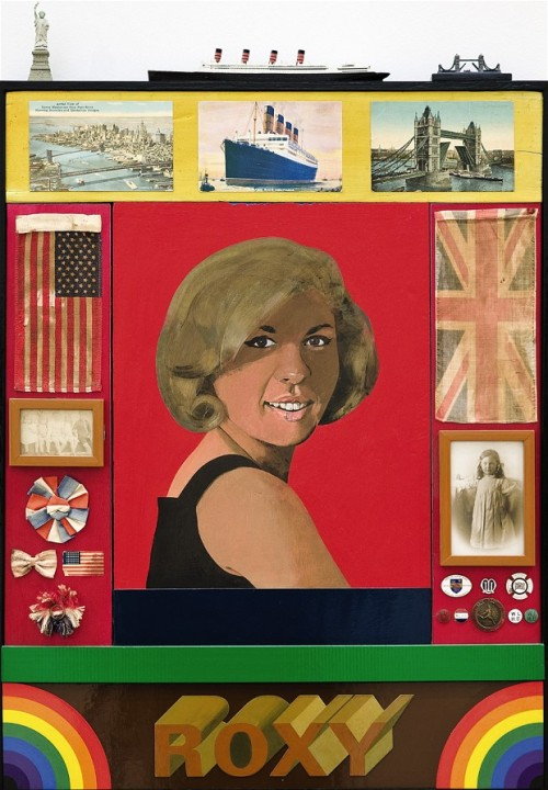 iconoclassic:  Roxy Roxy, by Peter Blake acrylic, emulsion and collage on board  (via Market news: modern British art by Blake, Hodgkin and others to fetch £1 million - Telegraph)