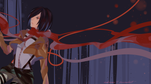 shinkamilyn:  ✿ Mikasa Ackerman - Shingeki No Kyojin I love her like woah~ Love girls like her~ ♡