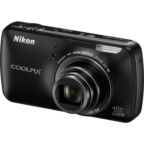 "A Smart Camera that takes app integration to the extreme is the Nikon COOLPIX S800c. If you've ever wanted a smart phone with a 25-250mm NIKKOR glass lens, the S800c is about as close as it gets. While this point-and-shoot camera cannot make telephone calls, it does run an Android operating system and feature a 3.5"" OLED touch screen. You can play Angry Birds and shoot photos of birds from the same camera. There is also a wide range of photo apps that are available to download directly into the camera from the Google Play store. There are photo-editing apps, retouching apps, filter apps, time-lapse apps—you name it. The COOLPIX S800c is available in black and white.   (via Holiday 2012: There's an App in That? on BH inDepth)"