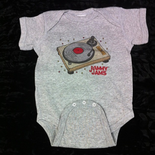Jammy Jams - Turntable Onesie - 12MAn Jammy Jams original design!**order here: http://jammyjams.bandcamp.com/merch/jammy-jams-turntable-onesie