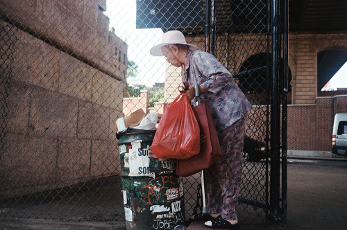 Bag Lady. New York City. 2011. 35mm.