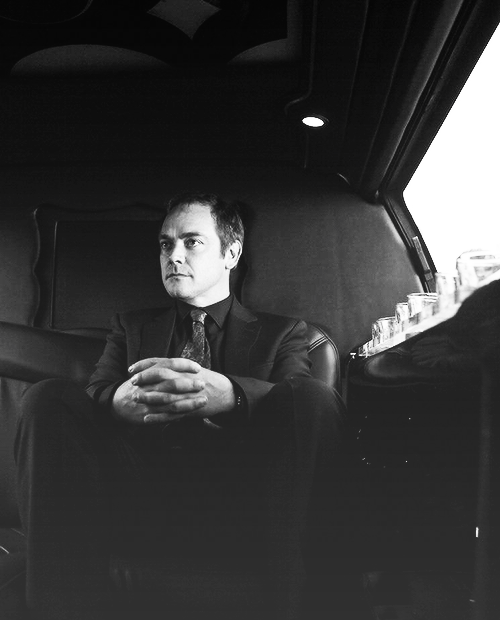 B/W SPN Men in Suits Series - Crowley