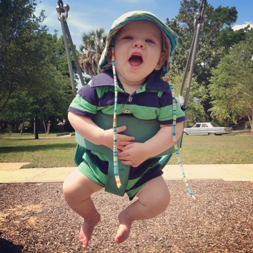 Swing lover. #happybaby #5months