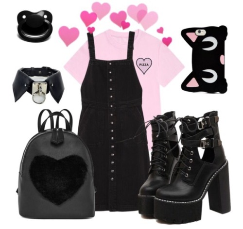 goth little cute cute goth Princess sfw collar paci pacifier pink and Black pink pastel pinke black kitty kittyscutelittleoutfits little space little girl little outfit little boy little mommys boy mommysgirl daddys girl daddys boy caregiver playtime