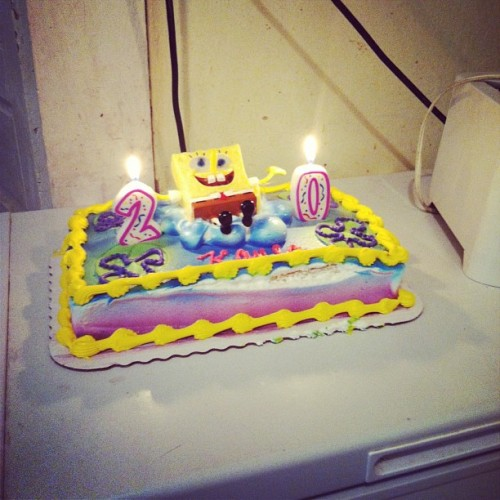 #birthday #cake #spongebob #20 #whoo #party