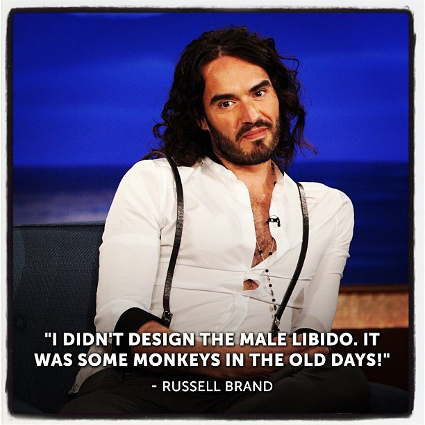 teamcoco:  Russell Brand from yesterday's show. #conan #russellbrand #brandx (at Warner Bros Stage 15)
