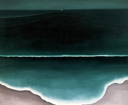 artmastered:  Georgia O'Keeffe, 1928, Wave, Night
