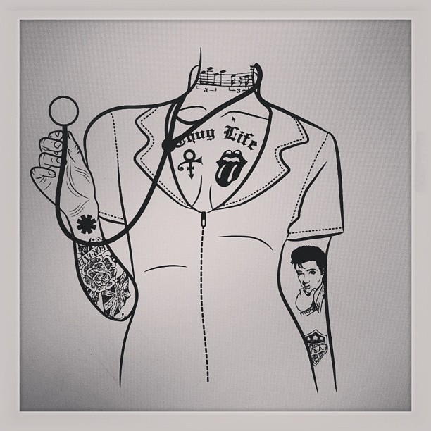 Homegirl got all tatted up… #Illustration #Design #ThugLife