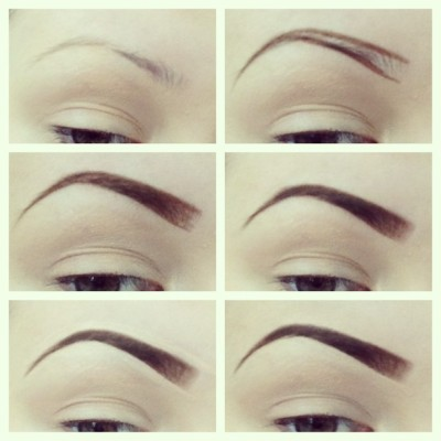 jessieblush:  How I do my eyebrows (sometimes) start off with clean eyebrows plucked & trimmed! Use eyebrow pencil(Anastasia's Beverly hill brow wiz pencil) draw desired shape next fill in softly using brow pencil, then fill in with shadow (lightly in front & darker towards end) conceal edges to give a clean & crisp look & viola! Sorry I suck at explaining things lol I tried. ❤