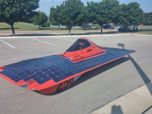 A few more shots from the American Solar Challenge stop at WC.