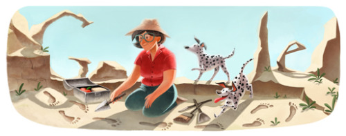 Adorable Google doodle for Mary Leakey's 100th birthday today! Image courtesy of Google, obviously.