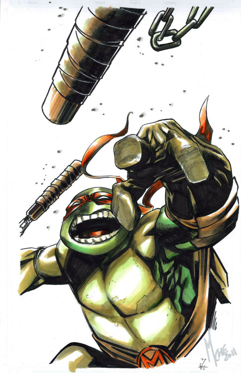 lulubonanza:   Michelangelo 2011 Commission by ~cOMIFAB