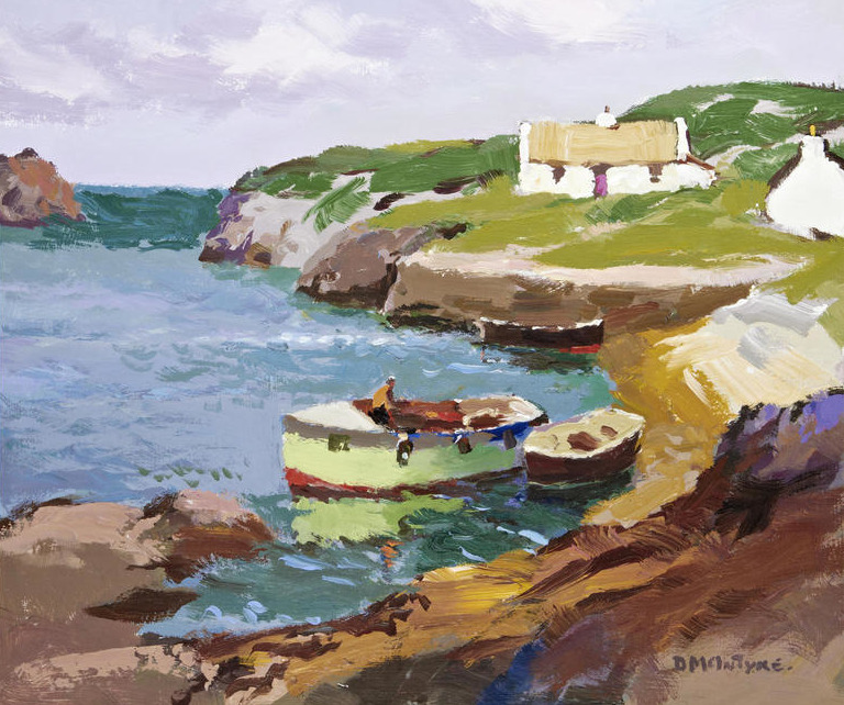 bofransson:  Donald McIntyre (British, 1923-2009) 'Little Harbour'