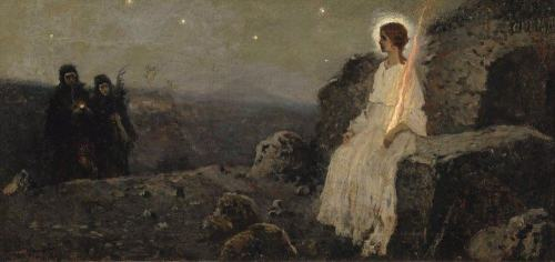 immerlein: 1911 Mikhail Nesterov (Russian; 1862-1942) ~ Angel at the Empty Tomb