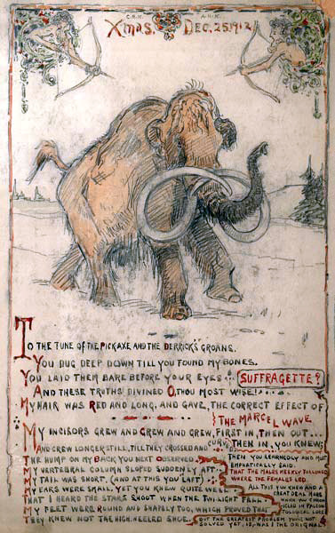 fuckyeahdinoart:  Christmas Mammoth by Charles R. Knight