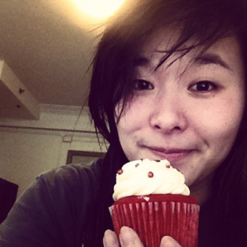 #breakfast delivered by #miss #julia #collegeproblems #cupcake #me #face #myface