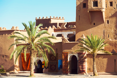 ae5alid:  Carpet shop in an ancient kasbah in Ouazarzate in south Morocco