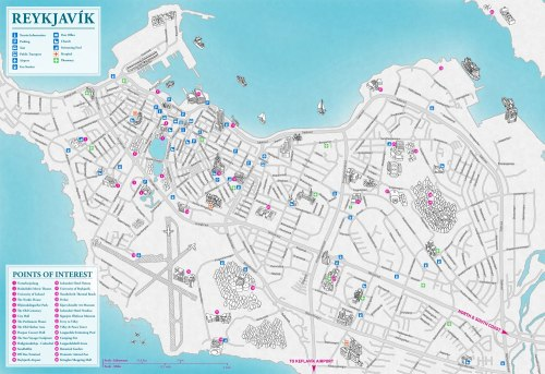 theeuropeanpost:  New Reykjavík map from Borgarmynd.This map will be featured in new paper editions of both Reykjavík Center Map & Iceland Illustrated Map