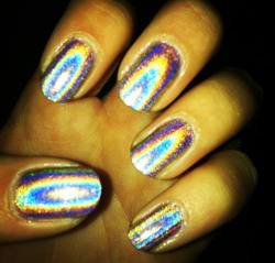 holo nails i wore to my school's formal