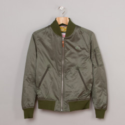 Lacoste L!VE Flight Jacket (Green) | Oi Polloi
