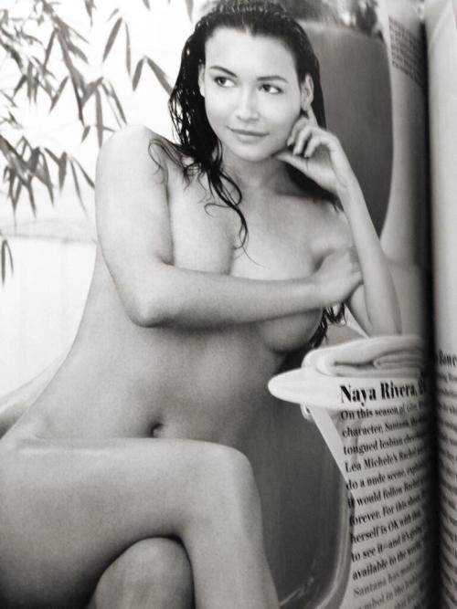 Scan from Allure Magazine with Naya's nude in it