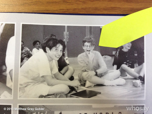 gublernation:  not much has changed since 5th grade except for the fact that now I only wear ladies scarves in my hair on the weekends View more Matthew Gray Gubler on WhoSay   keepin' it classy