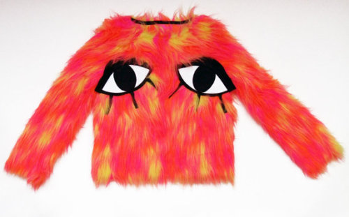space-grunge:  (via JOANNA PYBUS S/S13 Tutti Frutti Furry Eye Applique by joannaPYBUS)