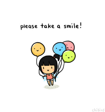 chibird:  One day I will draw cute faces on balloons and hand them out. >u<