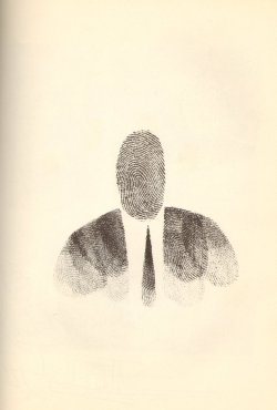 mythologyofblue:  Saul Steinberg - Fingerprint Man, 1951 (via likeafieldmouse)