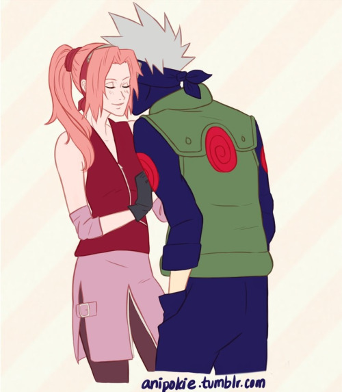 anipokie:  ugh I love these two, it's almost incomprehensible. sakura and kakashi belong to kishimoto