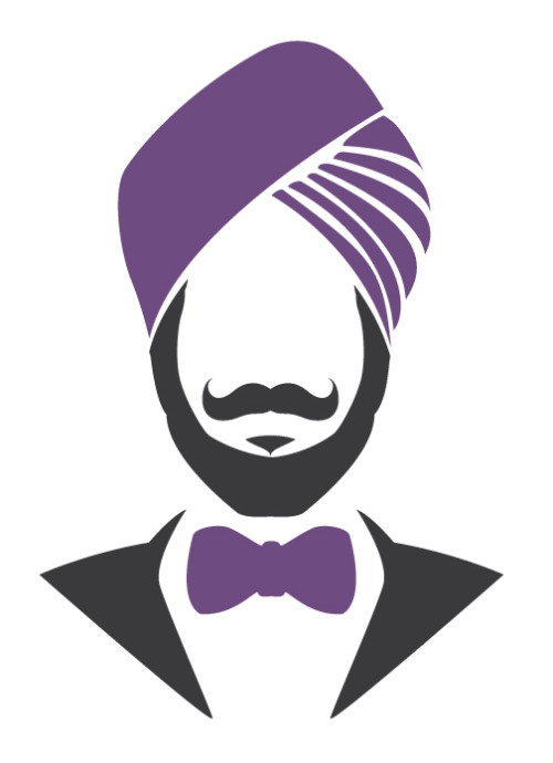 A friend noted that the Man Party logo I designed looked like him, sans turban, so I added ones for kicks.