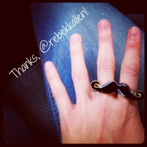 Got this super cute #mustachering from superwoman @rebekkalien today! Check out her store at http://rebekkalien.storenvy.com and her story and projects at http://rebekkalien.com :)
