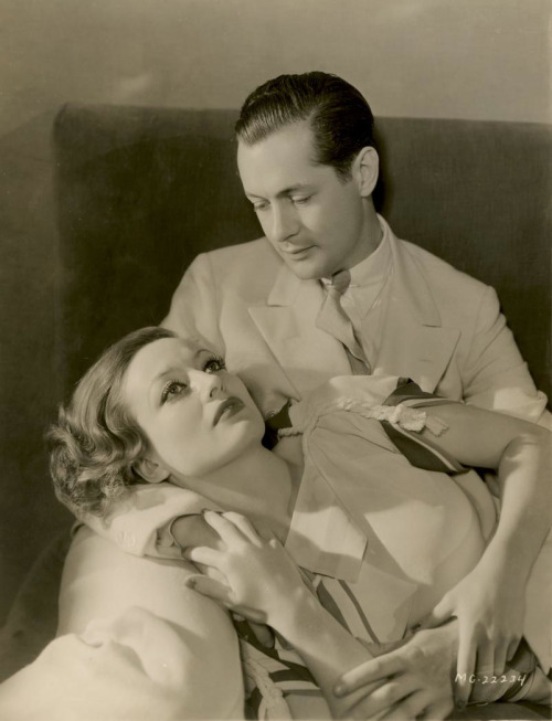 maudelynn:  Joan Crawford and Robert Montgomery in a Letty Lynton promo c.1932 photo by George Hurrell  (happy birthday Joan!)
