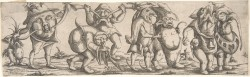 Procession of Monstrous Figures at the Met. Wendel Dietterlin the Younger (c. 1614-69)