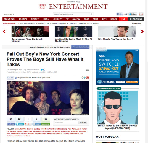 recap of last night's show in NYC up on The Huffington Post