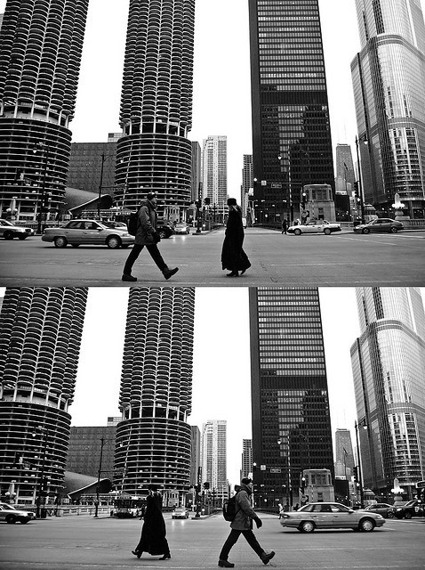 passing you by on Flickr.#chicago #streetphotography #dyptich