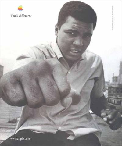 jaymug:  Vintage Apple Advertising - Think Different, Muhammad Ali
