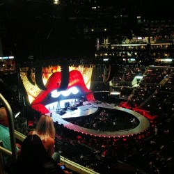 So excited!! #rollingstones #staplescenter