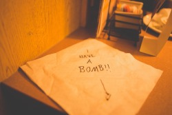 beforethecrash:  I wrote this on a napkin and had it pointing to Brook while eating at a Denny's in Texas