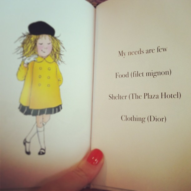 julieleah:  Life lessons from Eloise. #nyc #kindredspirit 👑