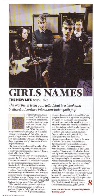 """The New Life sounds like a gag loosened, a voice finally unsilenced"" - NME, 8/10"